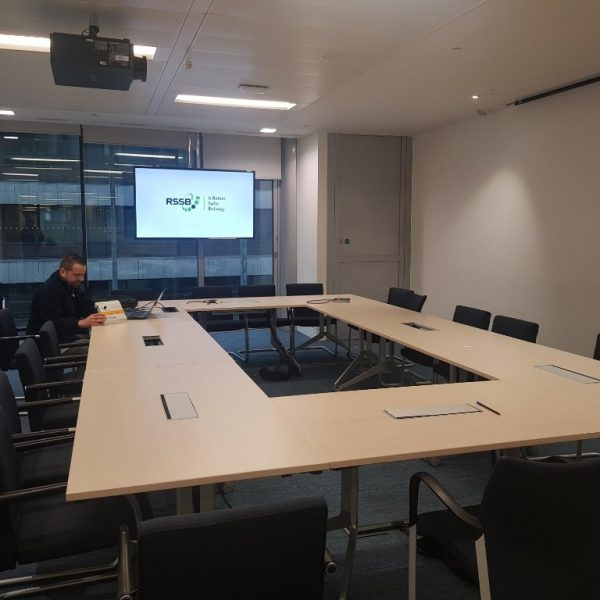 Office wide AV refresh for Rail Safety and Standards Board (RSSB) meeting room