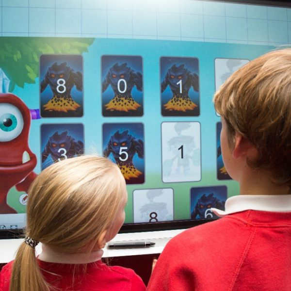 New primary school shines with interactive screens in every classroom, pupils 2