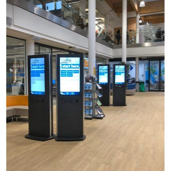 Innovative digital signage solution for Student Centre at University of Herts, two totems